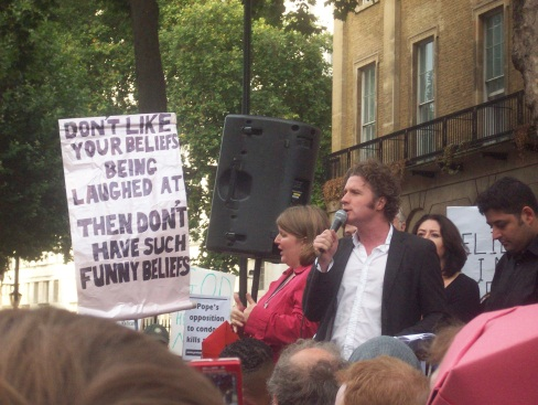 The amazing Ben Goldacre, who later signed my sign