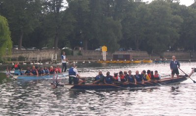 Dragon boat racing!