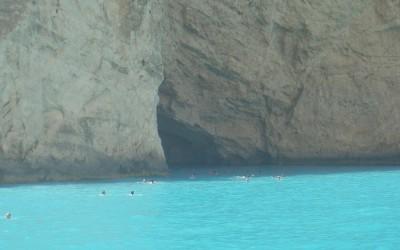 An almost cartoony blue sea