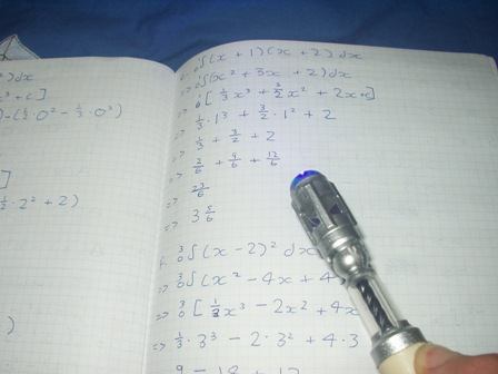 Trusty sonic screwdriver faces Maths homework