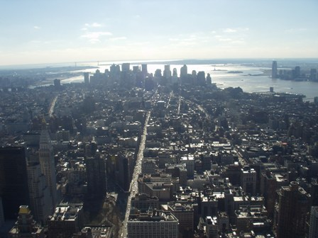 And here's the breathtaking view from the Empire State