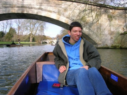 Punting in the Cambridge sun