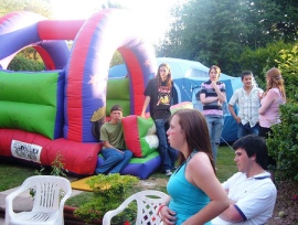 RaVe also featured a bouncy castle!