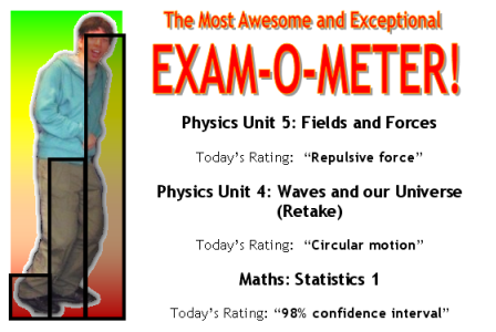 The Most Awesome and Exceptional Exam-O-Meter!