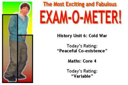 The Most Exciting and Fabulous Exam-O-Meter!