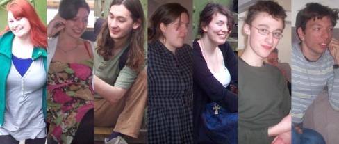 Abbi, Tash, Joshua, Sanna, Saoirse, Robert, me