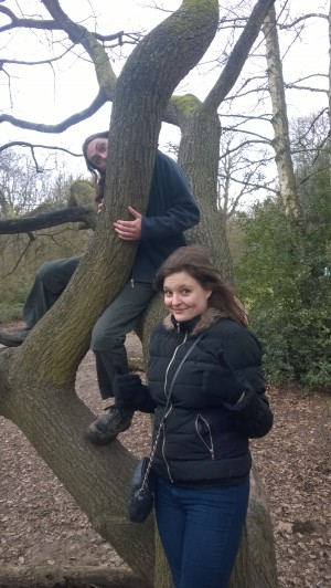 Tree climbing: we didn't get very high
