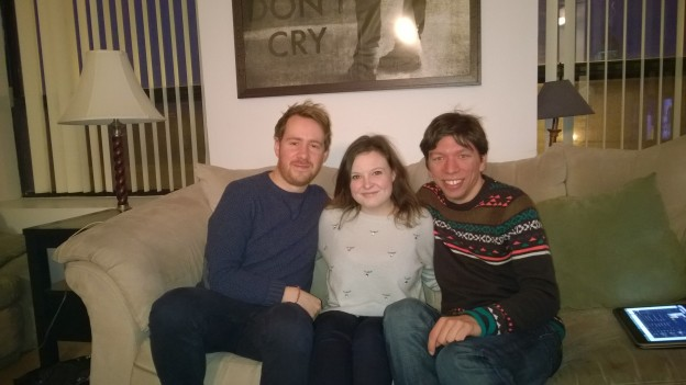 Reunited in Christmassy jumpers