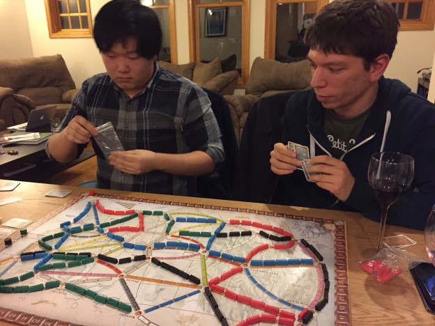 Ticket to Ride is just about building train lines, so you can imagine my joy