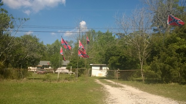 This is a lot of Confederate flags