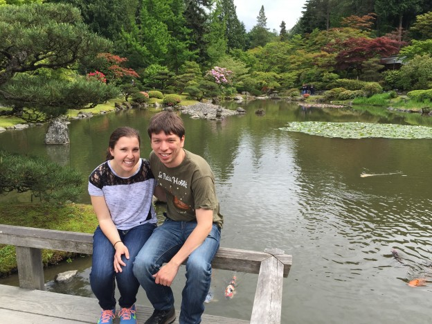 Coupley photo in Japanese garden #1