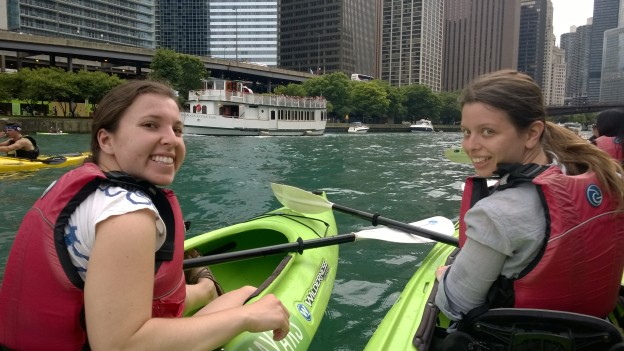 Kayaking down the Chicago River!