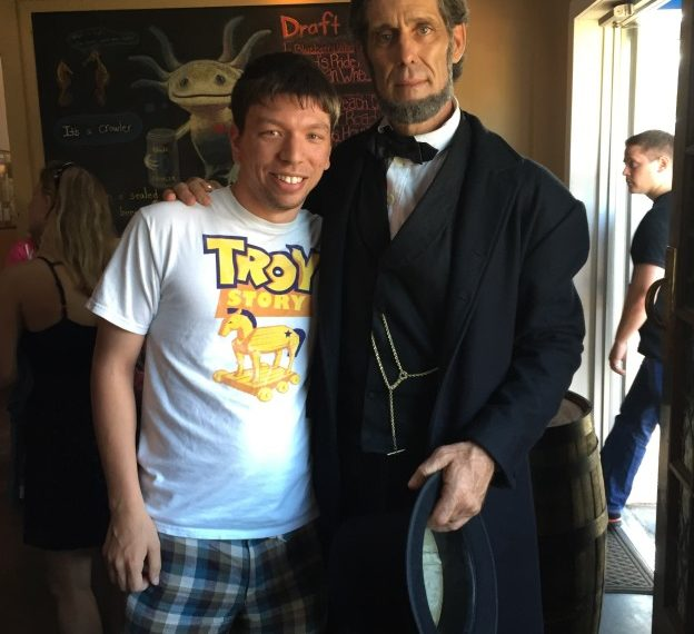 With my bffl, Abraham Lincoln