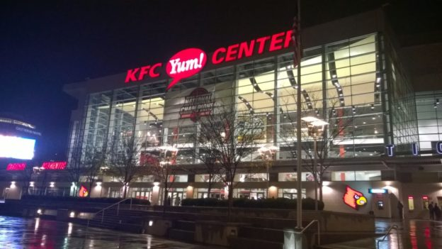 I was so, so disappointed that this was a sporting venue and not an interactive KFC museum