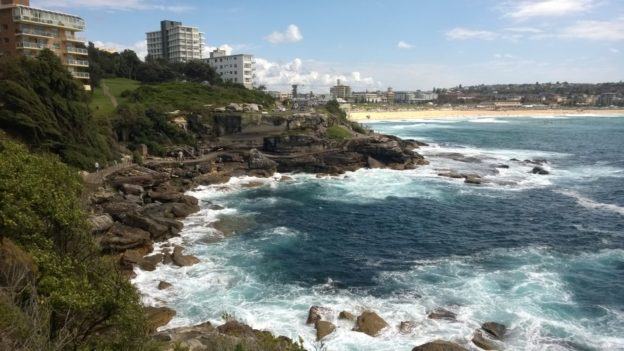 On the Bondi to Coogee beach walk