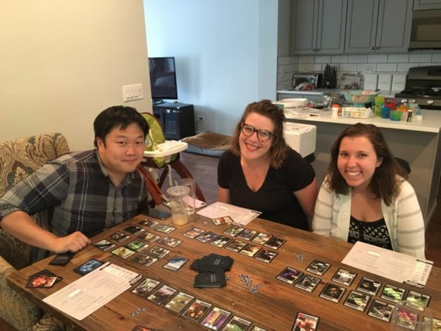 Racing for the galaxy with Jason, Carrie and Randi