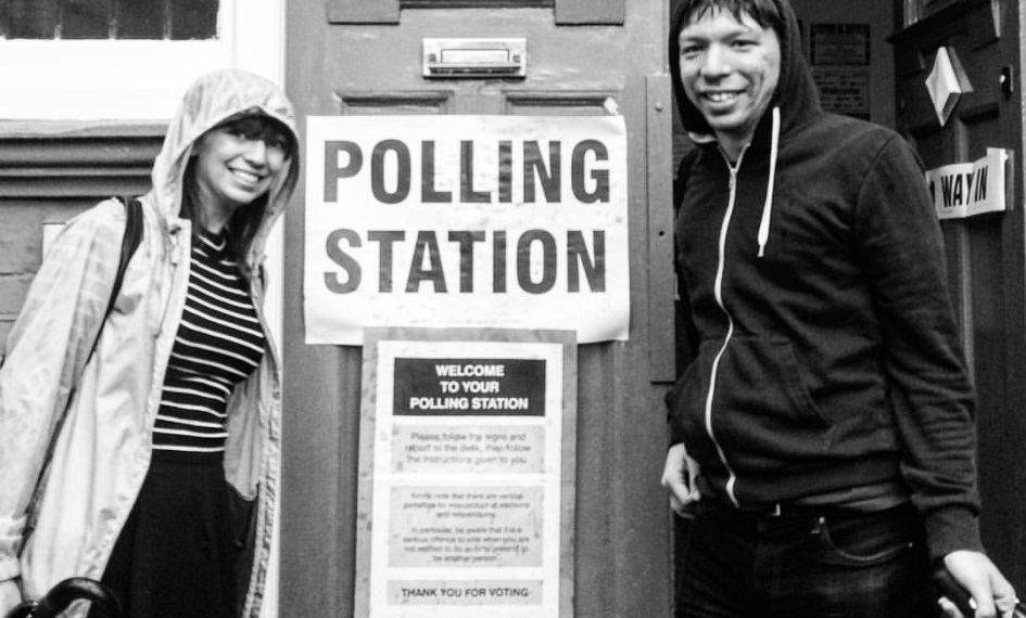 Polling station photo courtesy Tash, in happier times