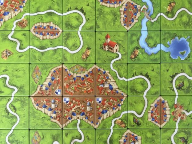 Carcassonne! The game, not the French town. Although both are beautiful.