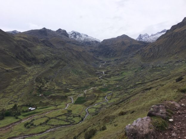 Trekking through the Andes