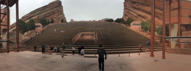 The stage at the Red Rock Amphitheatre