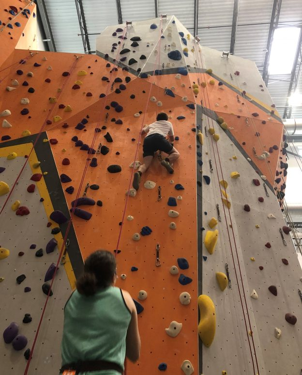 I much prefer climbing with the ropes