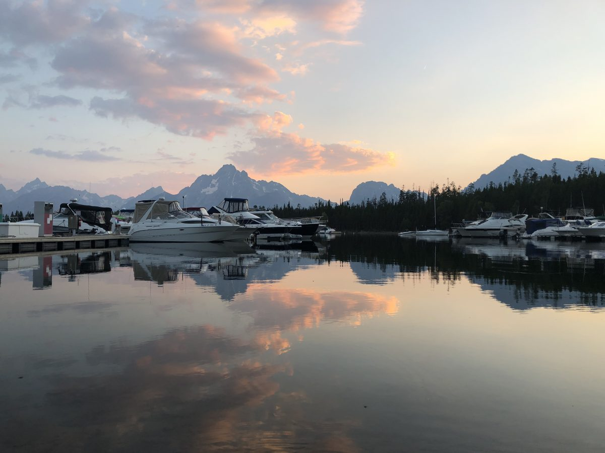 Evening views at Colter Bay Village