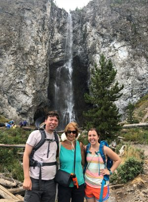 On the Fairy Falls and Grand Prismatic hike