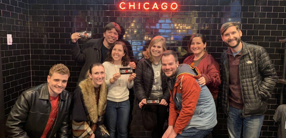 Escape room dream team: Devlin, Amanda, me, Randi, Carolyn, Todd, Anne and Trevor