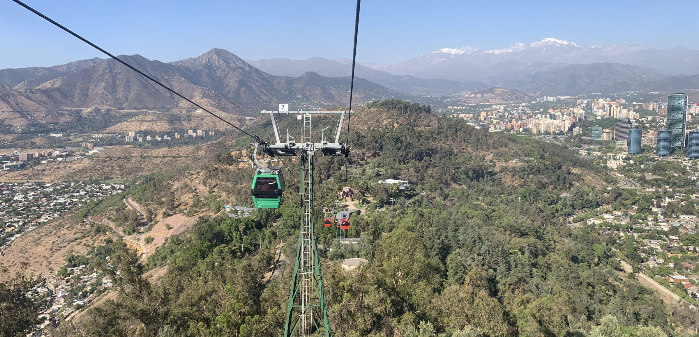On the teleférico down from San Cristóbal Hill