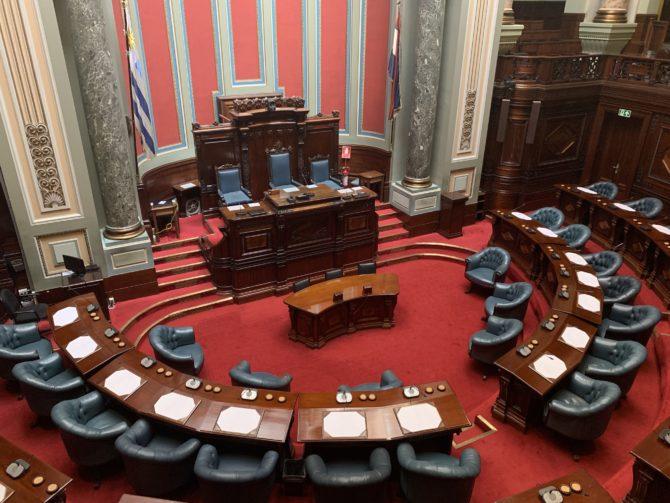 The Senate. Not pictured: Senators