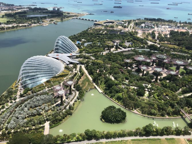 The view from the other side, including the Gardens by the Bay