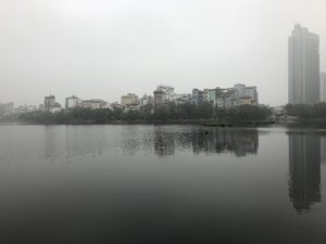 Furthest North: A very misty day by Hồ Tây lake in Hanoi, Vietnam