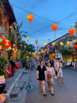 Lantern-lit streets