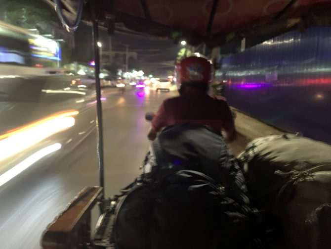 Tuk tuk at speed