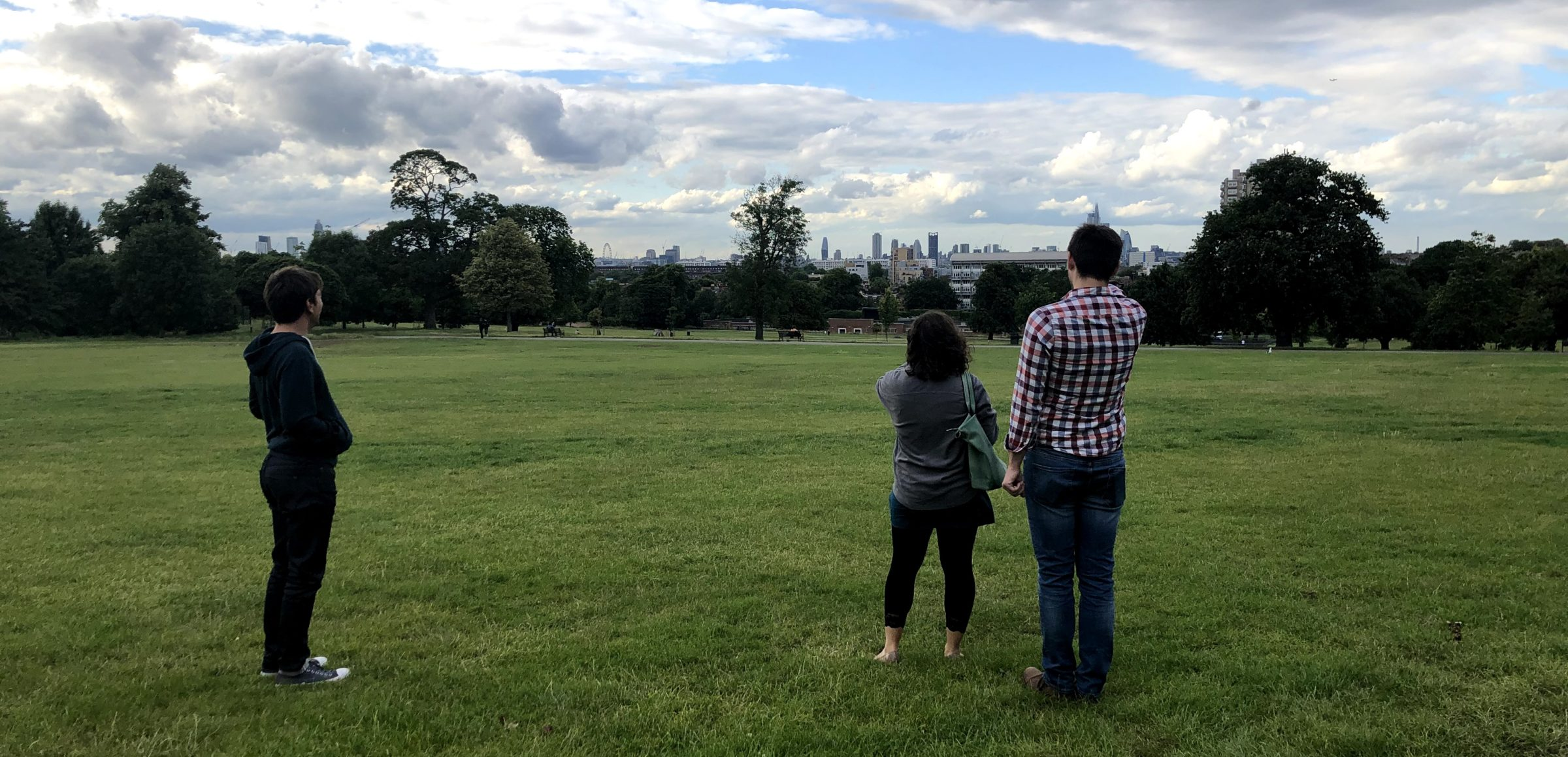 Randi finds the perfect skyline view from the park