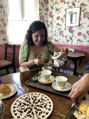 We found ourselves in a National Trust tearoom...