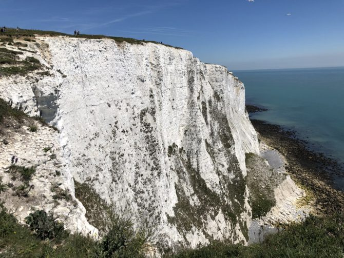 White cliffs!
