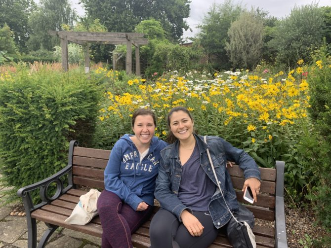 Randi and Villy in the walled garden